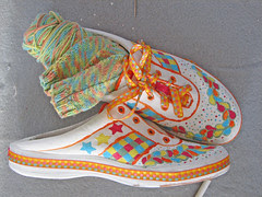 Painted Shoes,  trimmed and finished