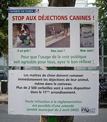 déjections+canines