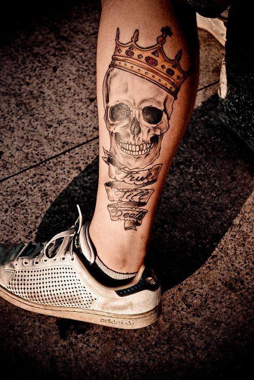 Skull And Quote Crown Tattoo Tattoomagz