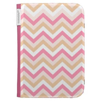 Sweet Pink Zigzag Kindle Folio Cases