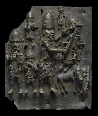 Benin art work depicting a battle scene. The heirs to Benin royalty have challenged Sotheby's and others for selling looted cultural treasures from the traditional West African state. by Pan-African News Wire File Photos