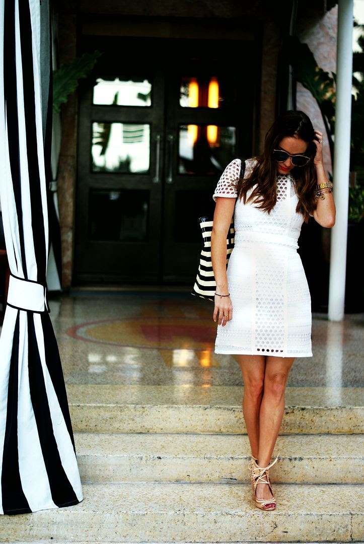 Lace Dress with Jeffrey Campbell Rodillo Wedges