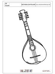 Mandolin Boyama Sayfaları