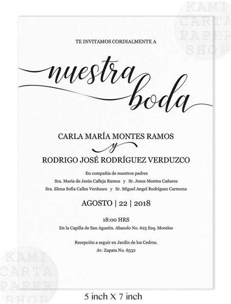 invitaciones de boda spanish wedding invitation instant