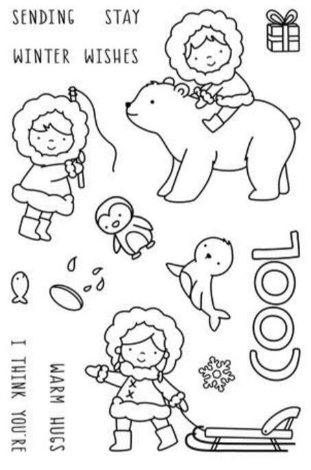 Bear / girl Clear Stamp Or stamp for DIY Scrapbooking/Card
