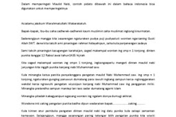 Teks Pidato Bahasa Indonesia Tentang Maulid Nabi
