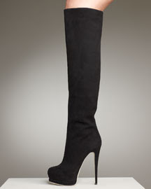 Giuseppe Zanotti Over-the-Knee Hidden-Platform Boot