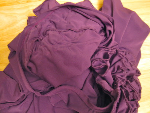 Ruffles Hand Stitched to Shoulders