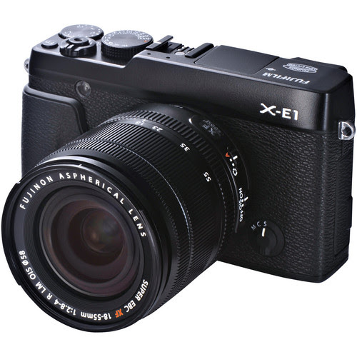 Fujifilm X-E1 Digital Camera Kit with XF 18-55mm f/2.8-4 OIS Lens (Black)