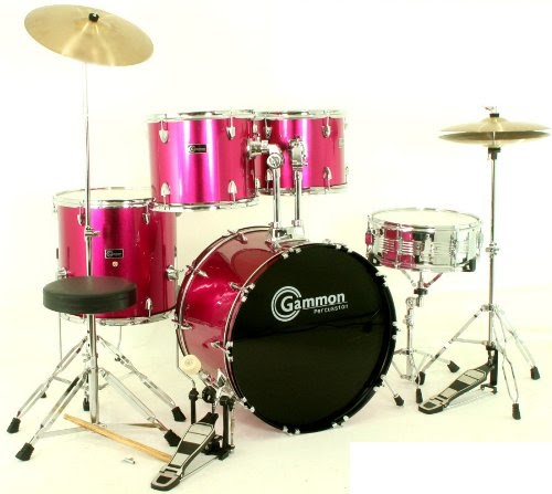 pink drum set for sale complete full size kit with cymbals and stands. Black Bedroom Furniture Sets. Home Design Ideas