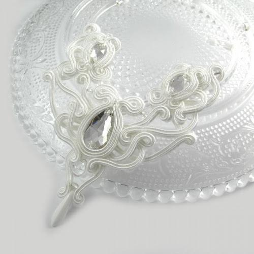 Serenity delikatny ślubny naszyjnik