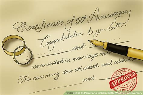3 Ways to Plan For a Golden (50th) Wedding Anniversary