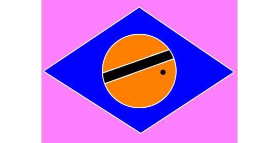 Ilusão de ótica da bandeira