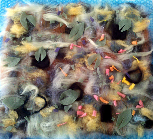 wet felting workshop ~ mine