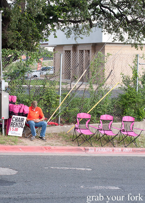 chairs for hire outside franklin barbecue austin texas