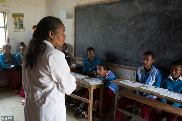 Biology teacher Tafesech Balemi guides girls through their body changes and educates boys to demystify the female menstrual cycle