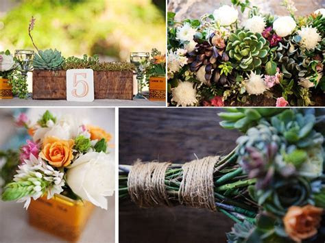 Gorgeous eco friendly succulents for wedding reception