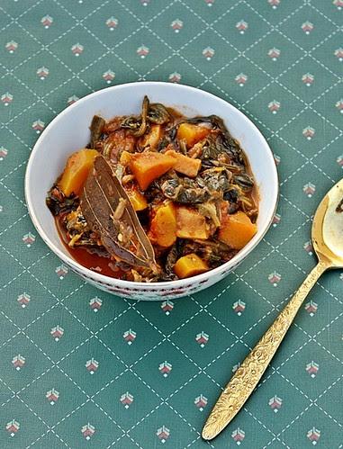 Butternut Squash, Spinach Curry