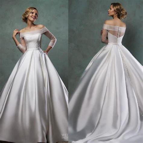 Elegant Amelia Sposa Wedding Dresses 2015 Off Shoulder