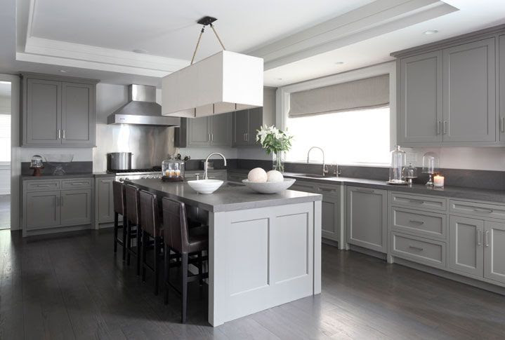 Gray Washed Wood Floors - Contemporary - kitchen - Mar ...