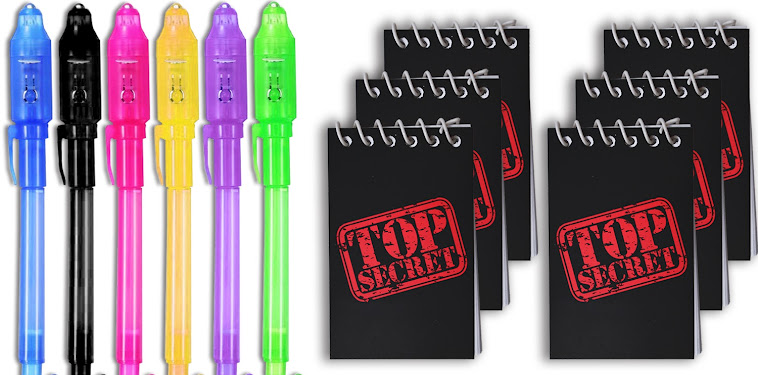 Black Top Secret Uv Pen