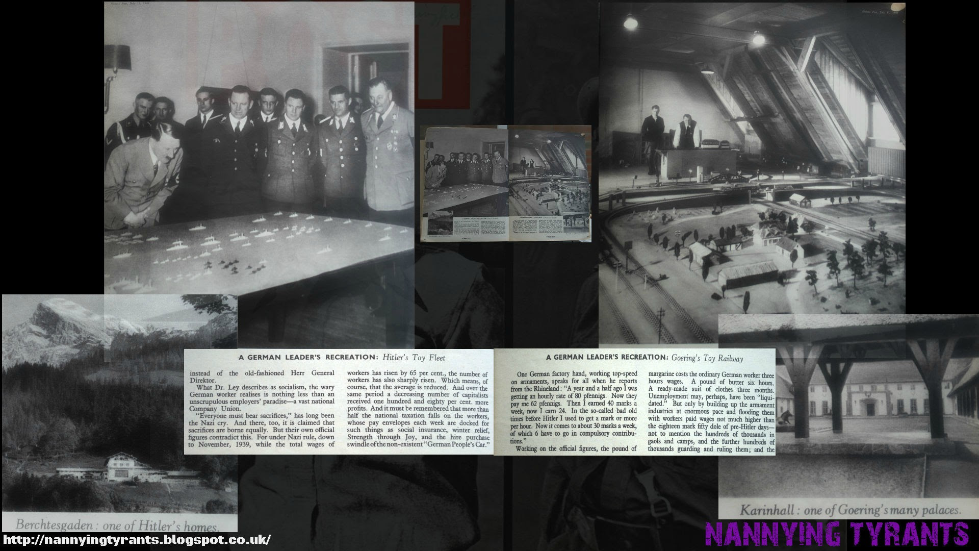 What We Are Fighting For - Adolf Hitler and Hermann Goering with their toys