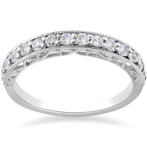 1/2ct Vintage Diamond Wedding Ring 14K White Gold   eBay