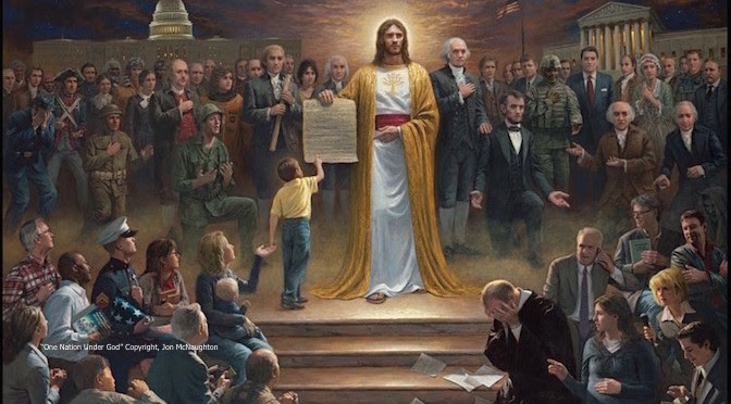 Jon McNaughton, abortion, Jesus, America, choice, mother, disabled, One Nation Under God