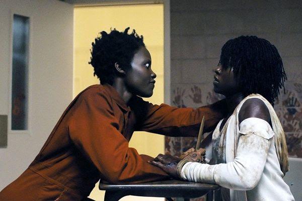 Red (Lupita Nyong'o) confronts Adelaide Wilson (Lupita Nyong'o) in Jordan Peele's US.