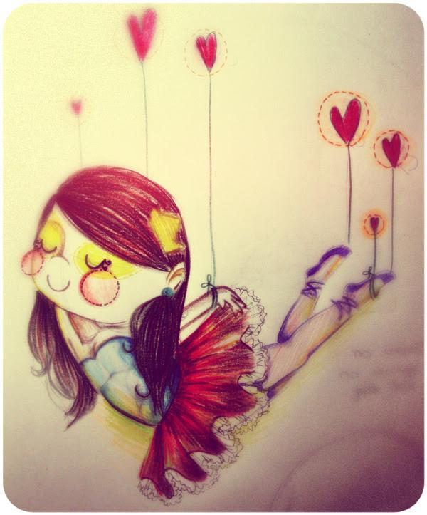 bailarina apaixonada. (ela só vira bailarina quando tá apaixonada)