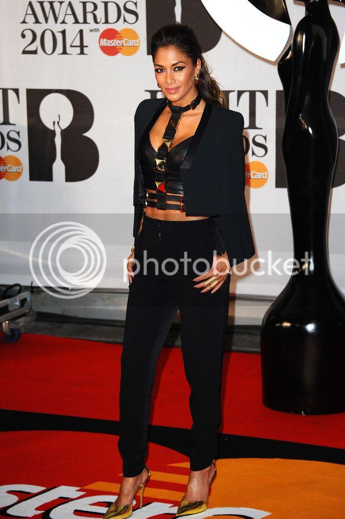 Nicole Scherzinger's red carpet look at Brit Awards...