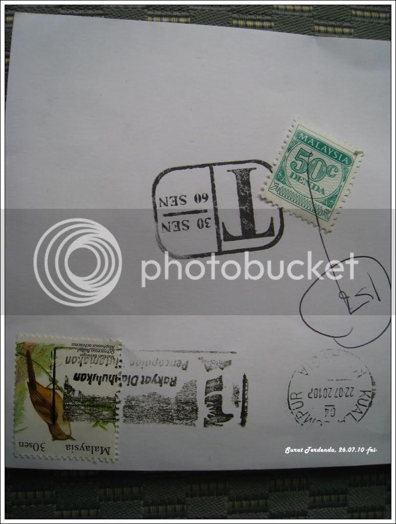 Surat Terdenda Stamp