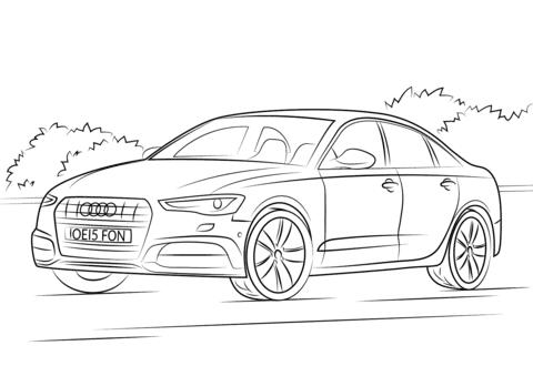 Disegno Di Audi A6 Da Colorare Disegni Da Colorare E Stampare Gratis