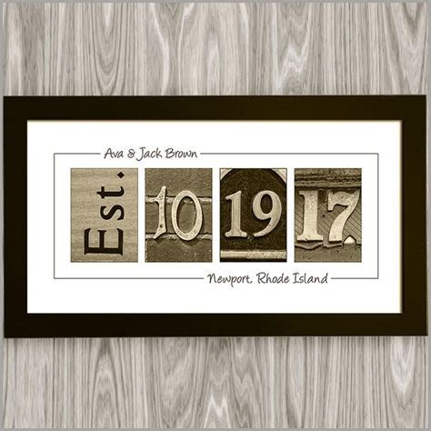 Personalized Wedding Date Gift   Personalize for Free