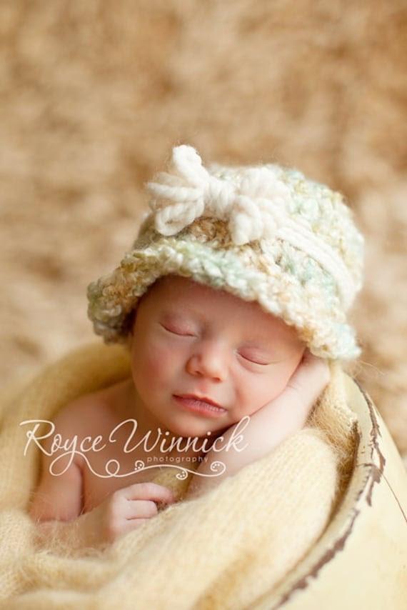 PDF Fuzzy Cloche CROCHET  PATTERN No 230 photo prop sizes preemie, newborn. 0-3, 3-6 months