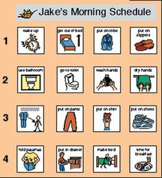 Daily Visual Schedule For Kids | Daily Planner