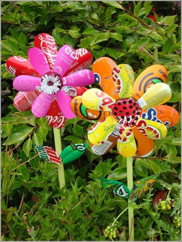 Recycled Garden Art Ideas Photograph Amazing Garden Art Id