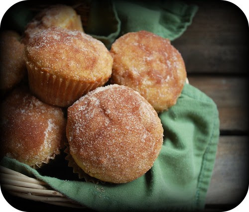 Baked Apple Donuts in basket