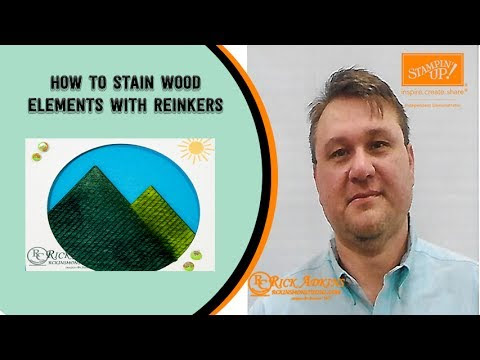 How to Stain Wood Elements for a Card