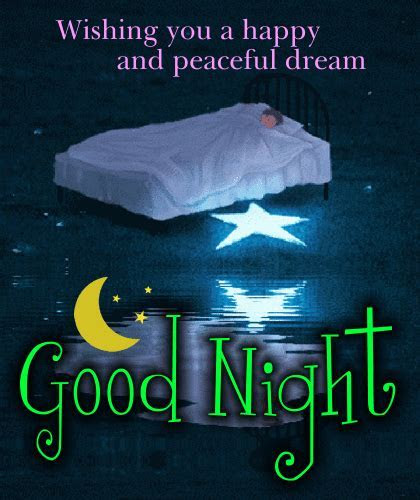 A Happy And Peaceful Dream. Free Good Night eCards