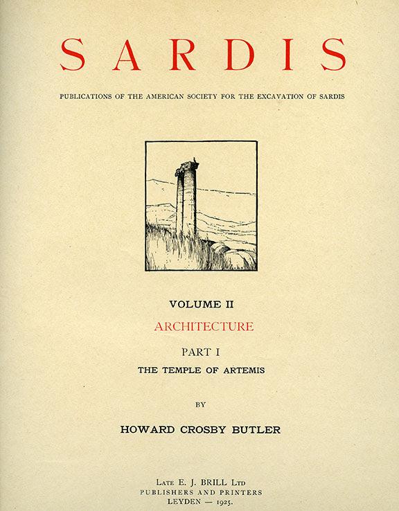 Sardis Volume II: Architecture, Part I: The Temple of Artemis (Text)