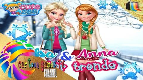 juegos de vestir a elsa : Elsa Y Tendencias Anna Invierno: Juegos de Vestir.