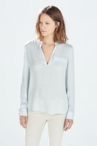 Zara Buttoned Neck Shirt