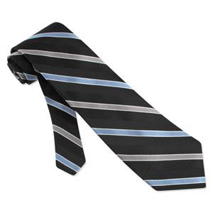 Textured Satin Stripe black silk Tie