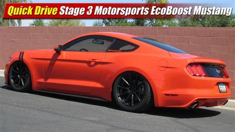 quick drive stage  motorsports  ecoboost mustang