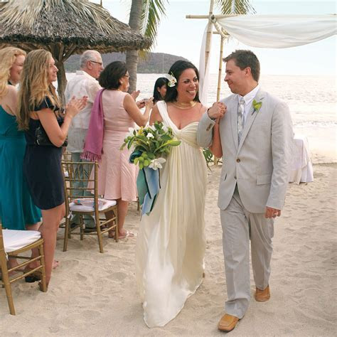 A Navy and White Destination Wedding on the Beach in