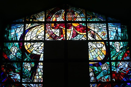 Rear wall stained glass