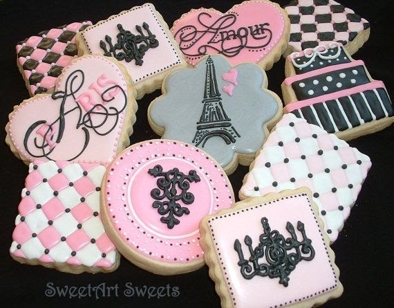 Southern Blue Celebrations Paris Themed Cookies