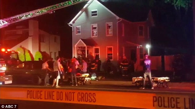 Authorities found the family of four mortally wounded after being called to the Long Branch, New Jersey home after receiving reports of a fire