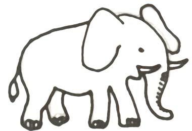 ausmalbilder elefant elmar - malbild